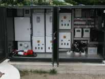 Roadside cabinet for main pumping station
